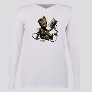 GOTG Groot Cassette Plus Size Long Sleeve Tee