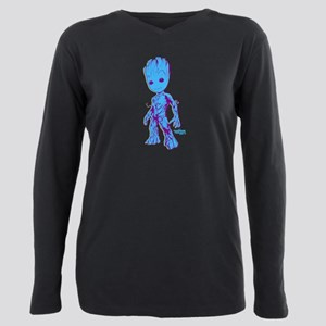 GOTG Groot Pose Plus Size Long Sleeve Tee