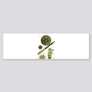 Vintage Fly Fishing Patent Drawing Bumper Sticker
