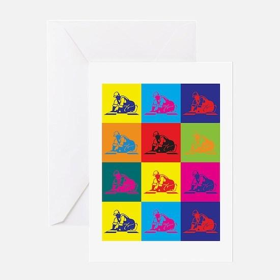 Flooring Pop Art Greeting Card