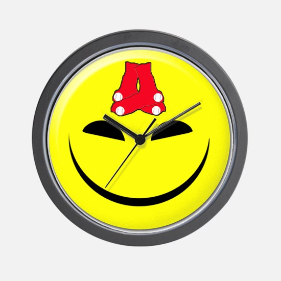 Smiley-Red Sox Wall Clock