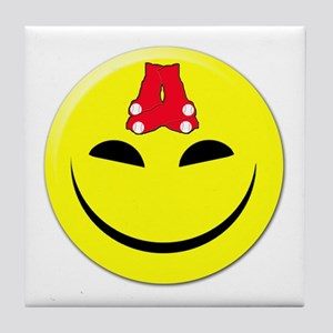 Smiley-Red Sox Tile Coaster