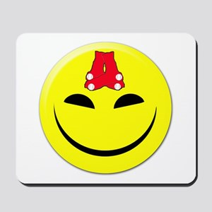 Smiley-Red Sox Mousepad