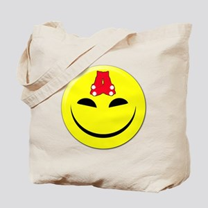 Smiley-Red Sox Tote Bag