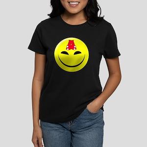 Smiley-Red Sox Women's Dark T-Shirt