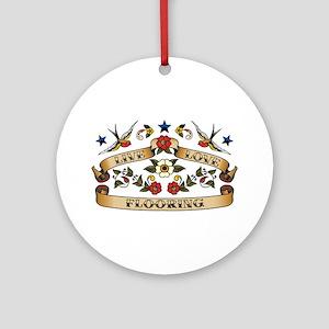 Live Love Flooring Ornament (Round)