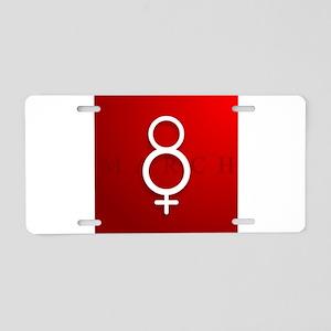 Feminine Eight Aluminum License Plate