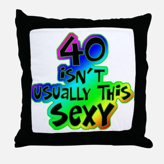 Rainbow 40th birthday Throw Pillow