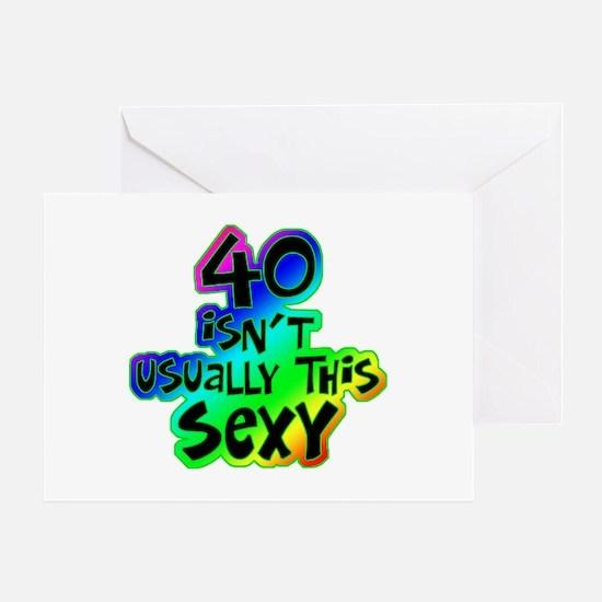 Rainbow 40th birthday Greeting Card