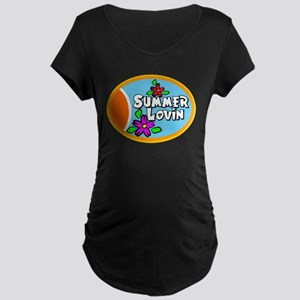 Summer Lovin Maternity Dark T-Shirt