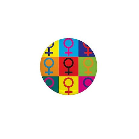 Feminism Pop Art Mini Button (100 pack)