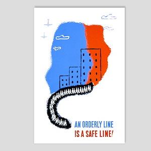 Orderly Safe Line Postcards (Package of 8)