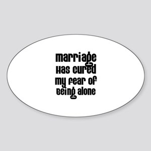 Marriage Has Cured My Fear of Oval Sticker