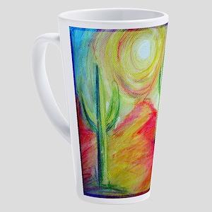 Desert, Southwest art! 17 oz Latte Mug