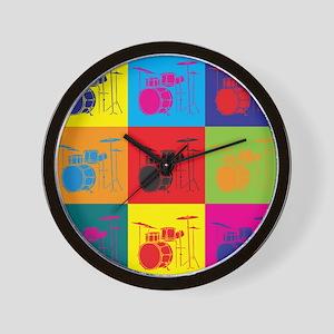 Drums Pop Art Wall Clock