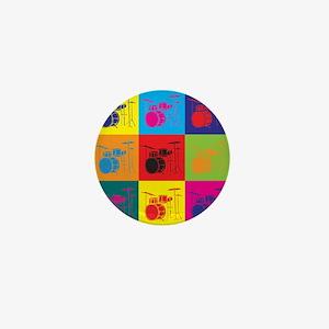 Drums Pop Art Mini Button