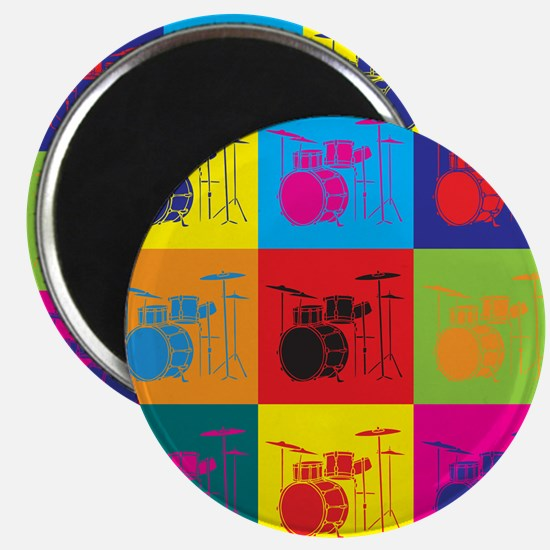 Drums Pop Art Magnet