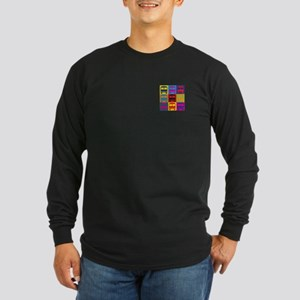 Driving a Bus Pop Art Long Sleeve Dark T-Shirt