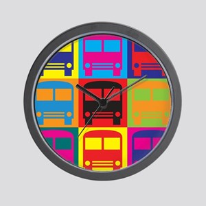 Driving a Bus Pop Art Wall Clock