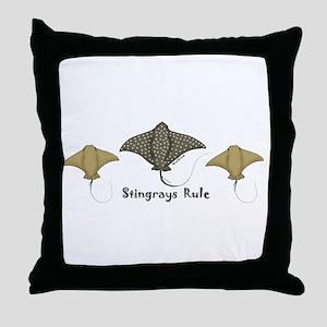 Stingrays Rule Throw Pillow