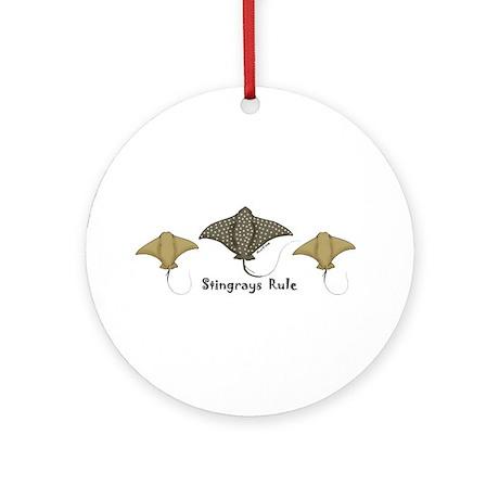 Stingrays Rule Ornament (Round)