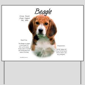 Beagle Yard Sign