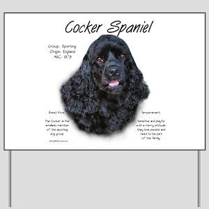 Cocker Spaniel (black) Yard Sign