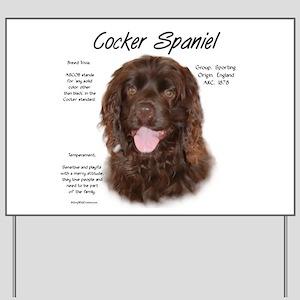 Cocker Spaniel (brown) Yard Sign