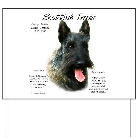 Scottish Terrier (brindle) Yard Sign