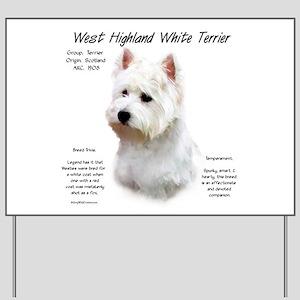 West Highland White Terrier Yard Sign