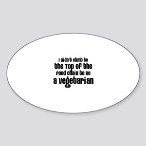 Top of the Food Chain Oval Sticker