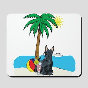 Beach Scottish Terrier Mousepad