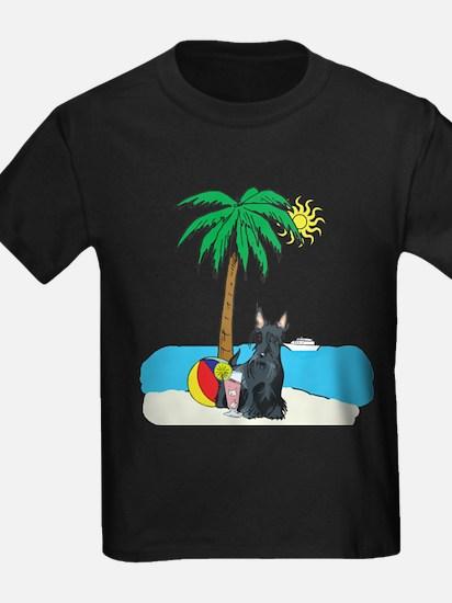 Beach Scottish Terrier T