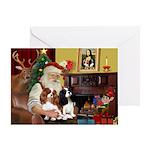Santas Two Cavaliers Greeting Card
