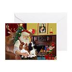 Santas Two Cavaliers Greeting Cards (Pk of 20)