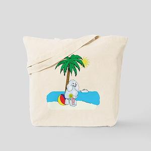 Beach Poodle Tote Bag