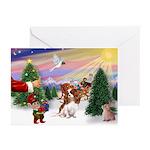 Santas Treat-Cavalier Greeting Cards (Pk of 20)