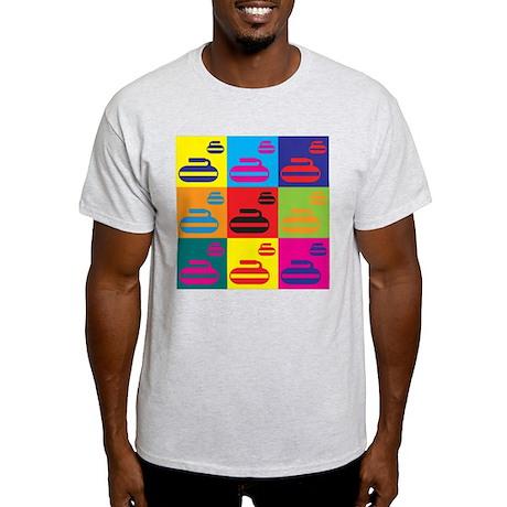 Curling Pop Art Light T-Shirt