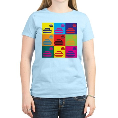 Curling Pop Art Women's Light T-Shirt