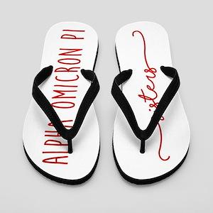 Alpha Omicron Pi Sisters Flip Flops