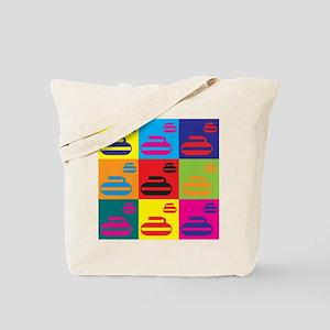 Curling Pop Art Tote Bag