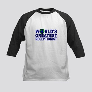 World's Greatest Receptionist Kids Baseball Jersey