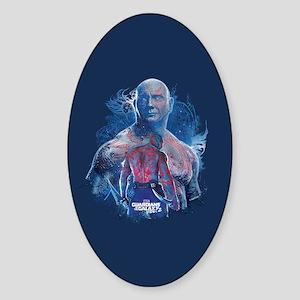 GOTG Drax Pose Sticker (Oval)