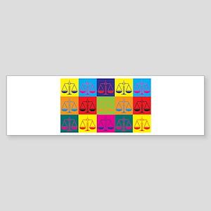 Criminal Justice Pop Art Bumper Sticker