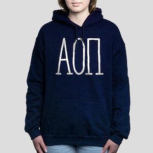 Alpha Omicron Pi Letters Women's Hooded Sweatshirt