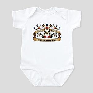 Live Love Cross-Stitching Infant Bodysuit