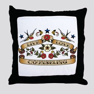 Live Love Counseling Throw Pillow