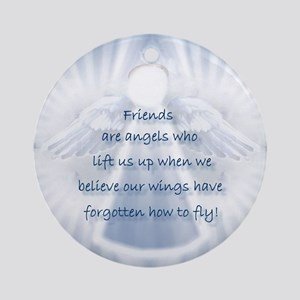 Framed Angel Tiles, Tile Boxe Ornament (Round)