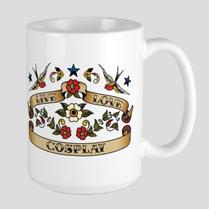 Live Love Cosplay Large Mug