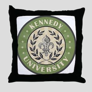 Kenneday Last Name University Throw Pillow